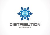 Abstract sign for business company. Technology, Industrial, Logistic, Distribution idea
