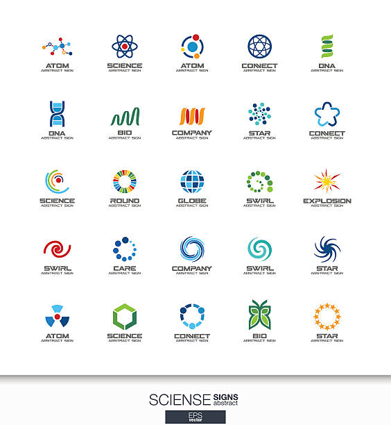 ilustraciones, imágenes clip art, dibujos animados e iconos de stock de abstract sign set for business company. healthcare, medicine and pharmacy - medicina alternativa