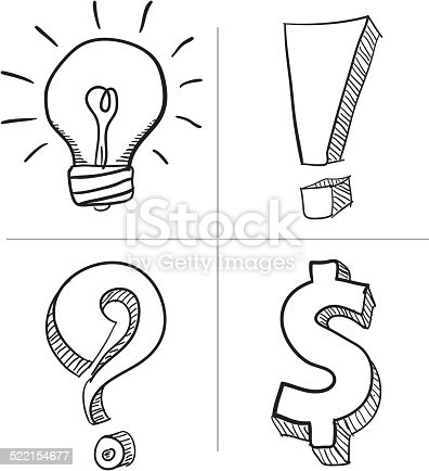 istock Abstract signe vector Illustration. 522154677