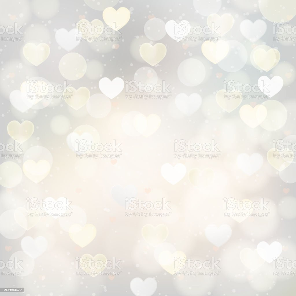 abstract silver background with transparent hearts stock