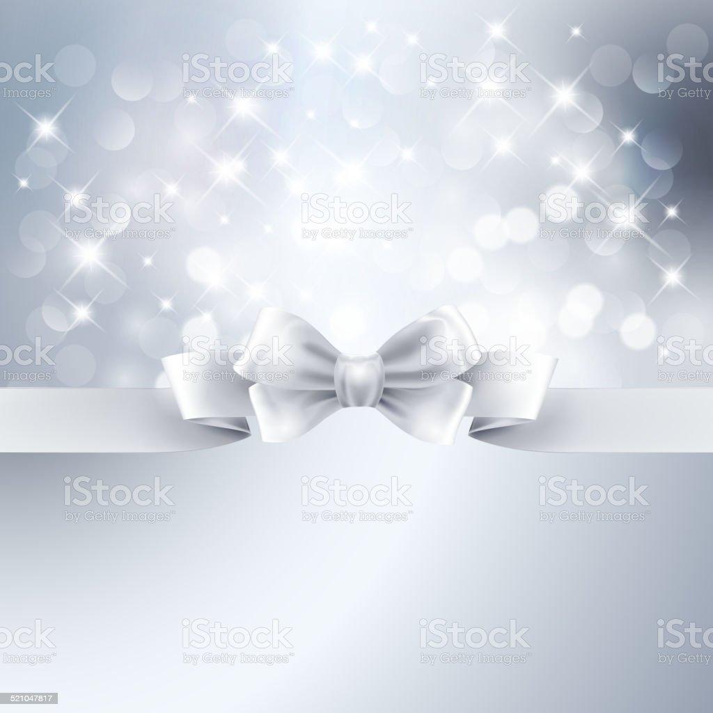 Abstrakte Licht Silber Hintergrund Mit Weißer Schleife Stock Vektor ...