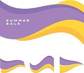 abstract simple wave header vector illustration. summer color decorative header for web amd print design