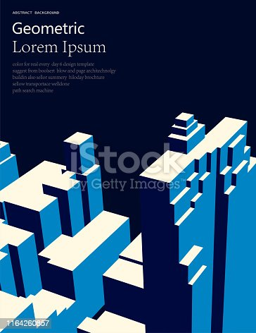 abstract simplicity style architecture pattern background for poster or cover