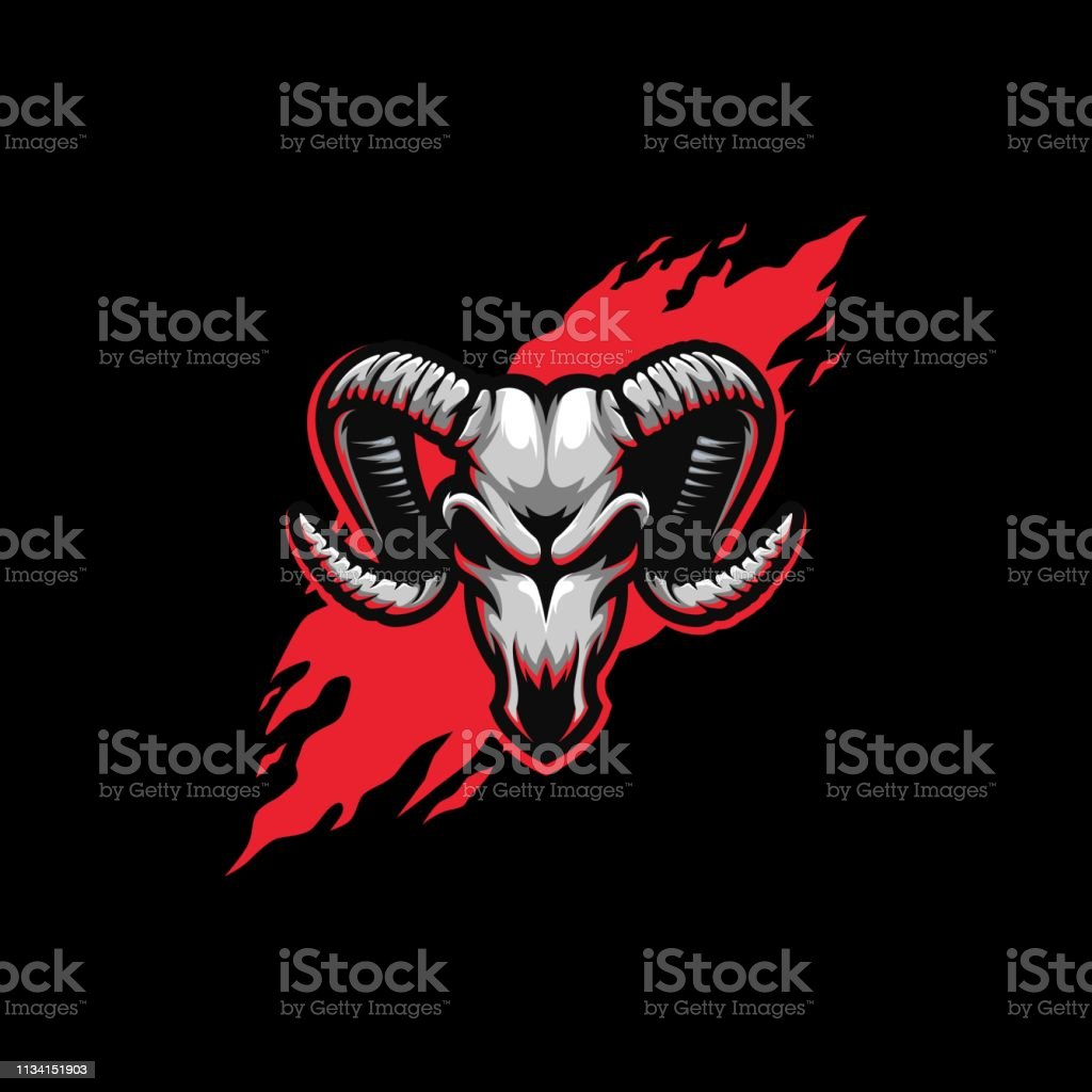 Abstract Skull Goat Esports Illustration Vector Design