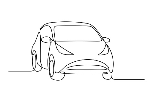 Abstract small hatchback car