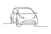 istock Abstract small hatchback car 1255011160