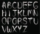 Abstract smoke alphabet-B & W