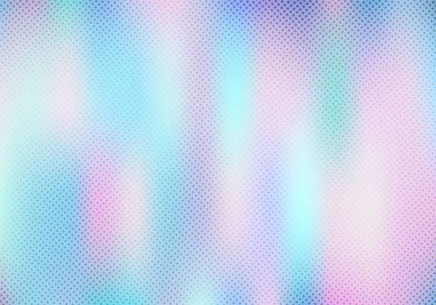 ilustrações de stock, clip art, desenhos animados e ícones de abstract smoot blurred holographic gradient background with halftone texture effect. hologram  luxury trendy tender pearlescent. - hologram