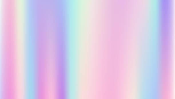 ilustrações de stock, clip art, desenhos animados e ícones de abstract smooth and holographic background. - hologram