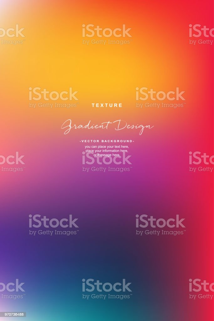 Abstract Smooth Background Yellow Orange Vector