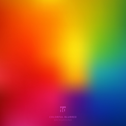 Abstract smooth blurred colorful bright rainbow color gradient mesh background