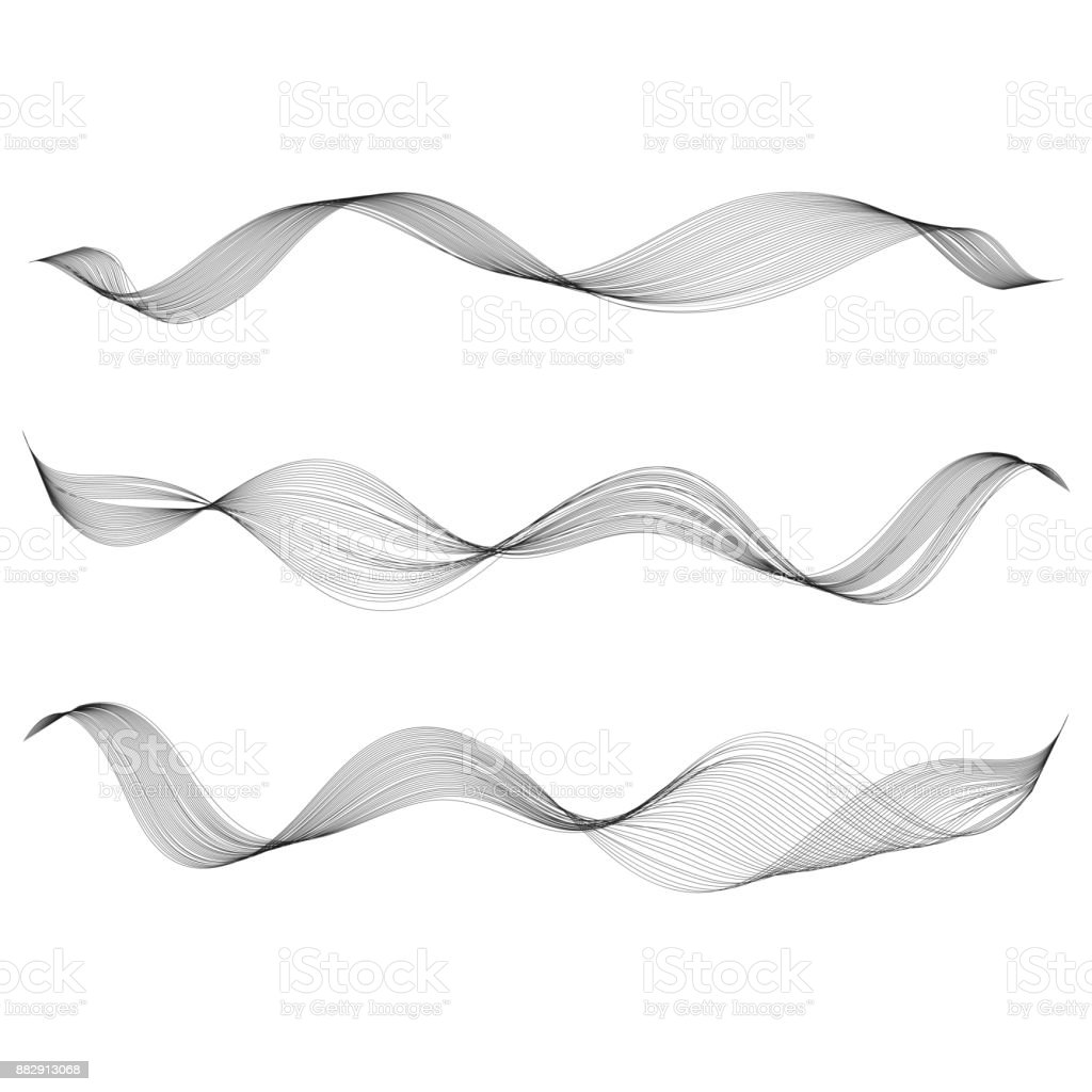 Drawing Smooth Curved Lines In Photo : Abstract smooth curve line design element stylized wave of