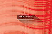 Wave Pattern, Pattern, Circle, Technology, Banner - Sign, Red,