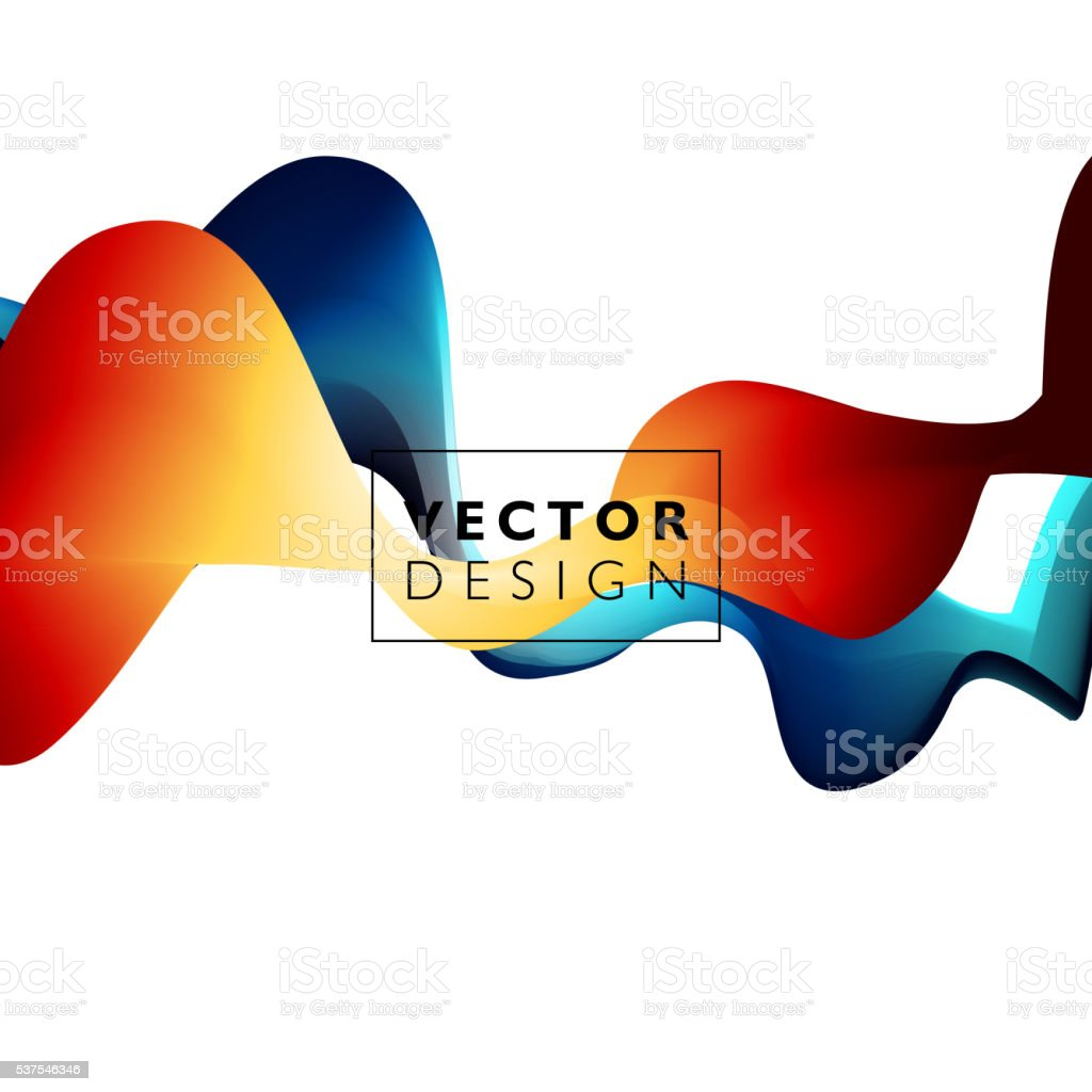 Abstrakt Weiche Welle Bewegung Grafik Stock Vektor Art und mehr ...