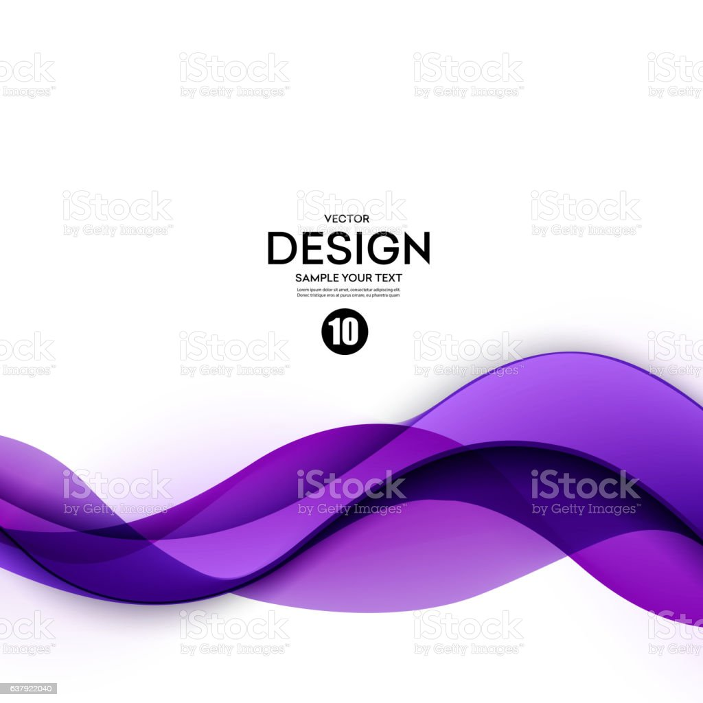Abstract smooth wave motion illustration vector art illustration