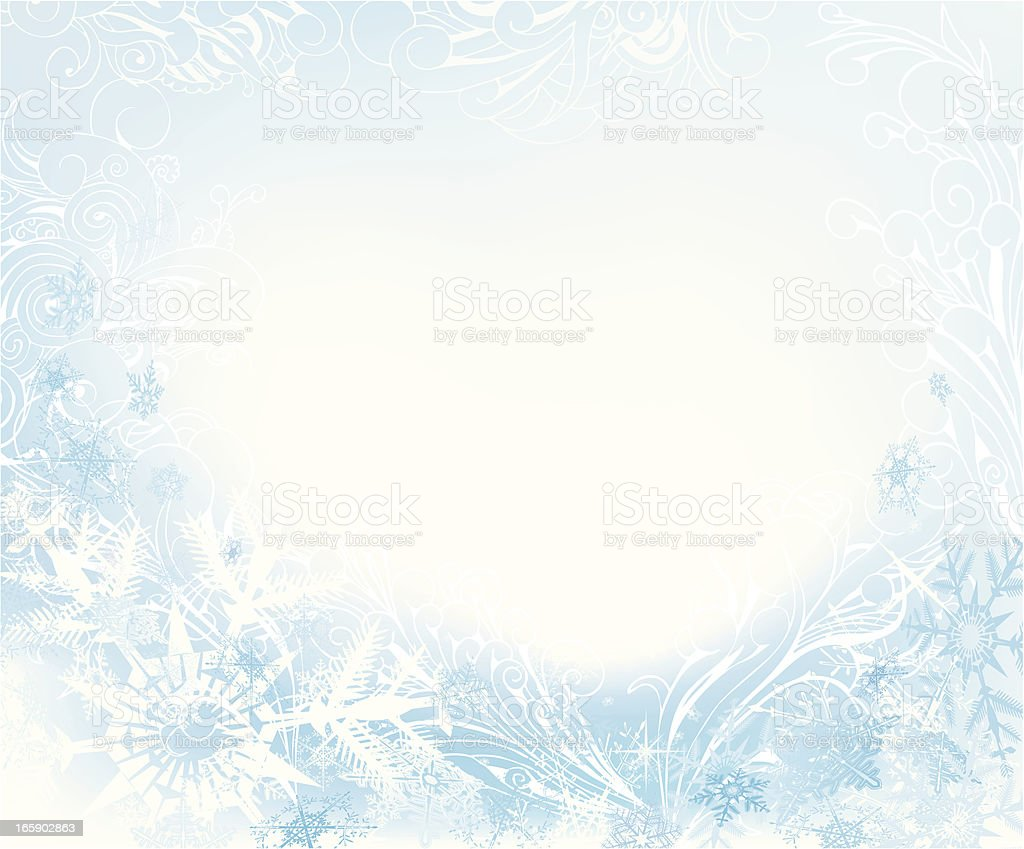 Abstract snow background vector art illustration