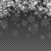 Abstract Snowflakes Overlay Effect