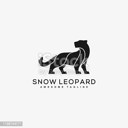 Abstract SnowLeopard Black Designs illustration vector template.  Suitable for Creative Industry, Multimedia, entertainment, Educations, Shop, and any related business  Tags :