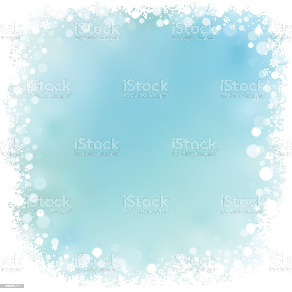 Abstract snowy background with blue center royalty-free abstract snowy background with blue center stock vector art & more images of backgrounds