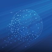 Football championship background. Vector illustration of abstract soccer ball for your design
