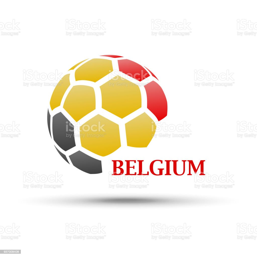 Abstract Soccer Ball With Belgium Flag Colors Stock ...