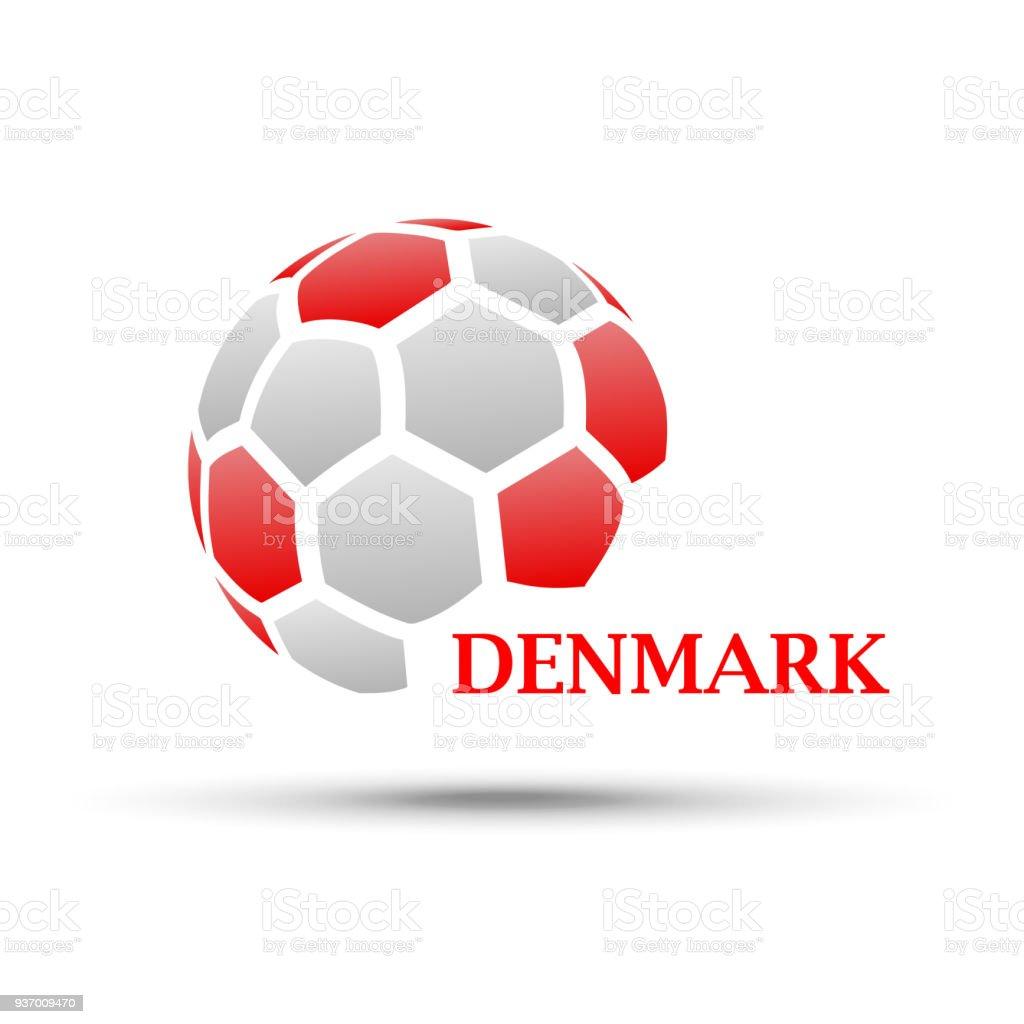 Abstrakte Fußball Mit Dänemark Flagge Farben Stock Vektor Art und ...