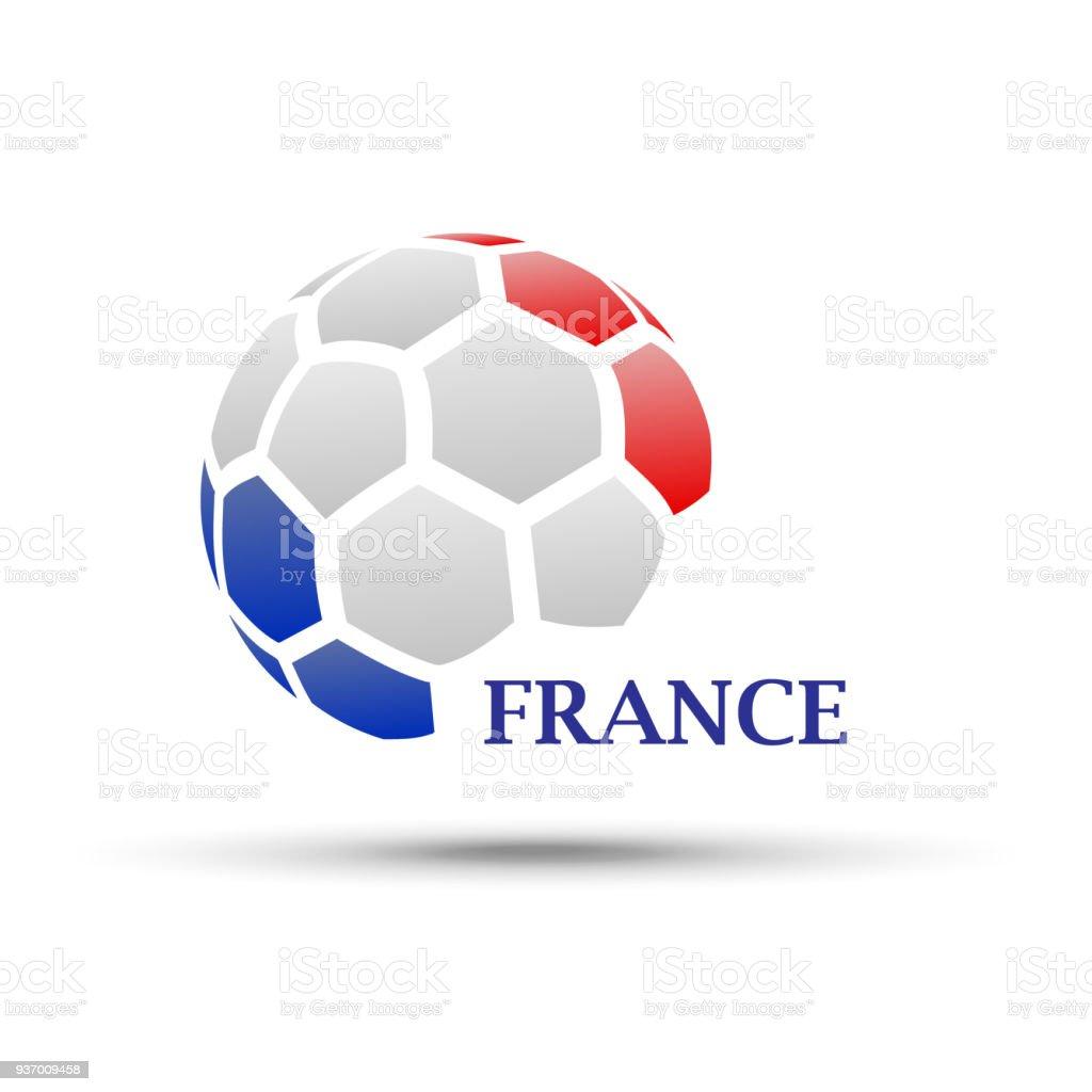 Abstrakte Fußball Mit Frankreich Flagge Farben Stock Vektor Art und ...
