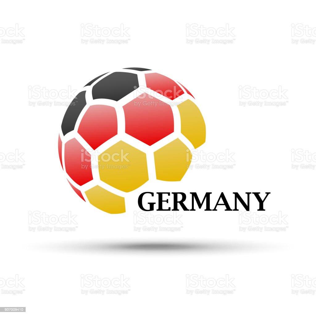 Abstrakte Fußball Mit Deutschland Flagge Farben Stock Vektor Art und ...