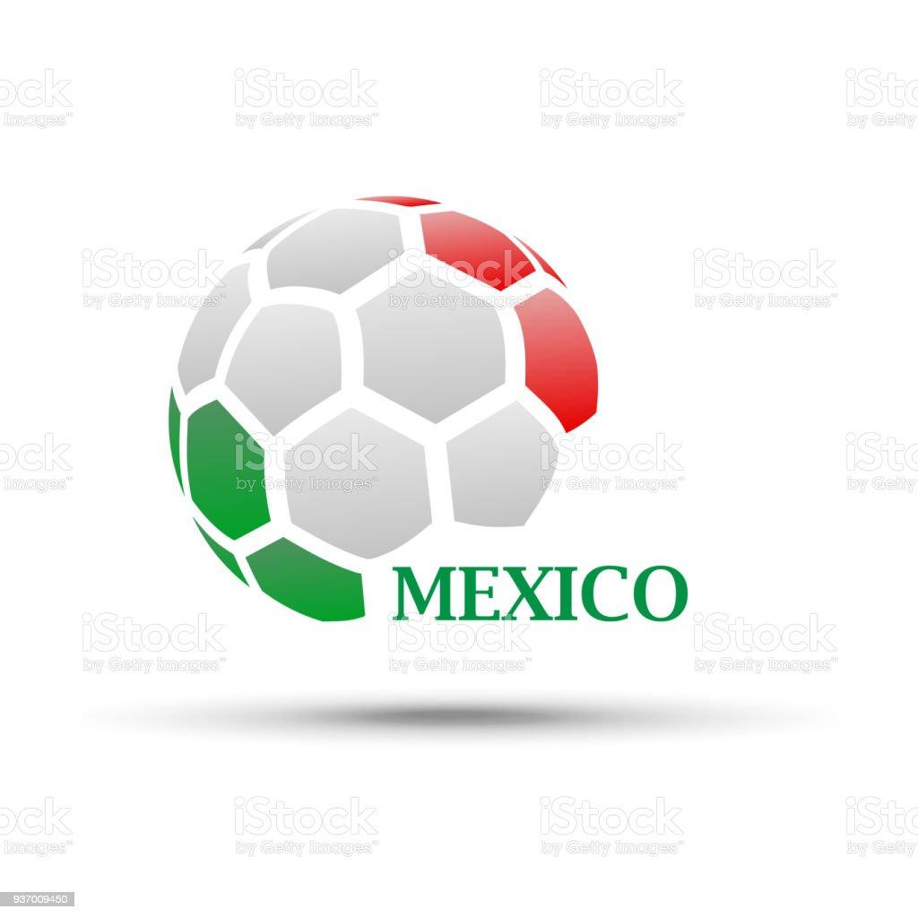balón de fútbol abstractos con colores de la bandera de México ilustración  de balón de fútbol 70a652f970a51