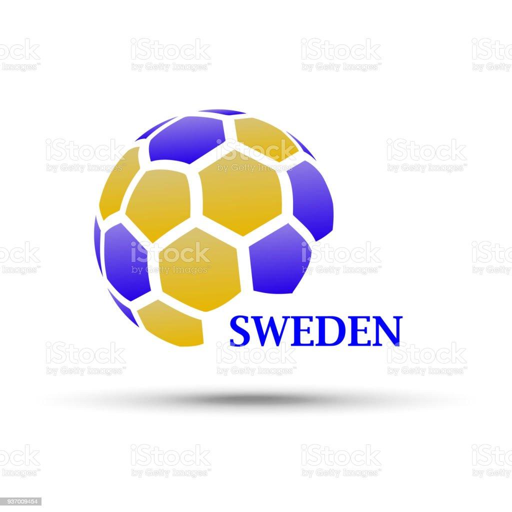 Abstrakte Fußball Mit Schweden Flagge Farben Stock Vektor Art und ...