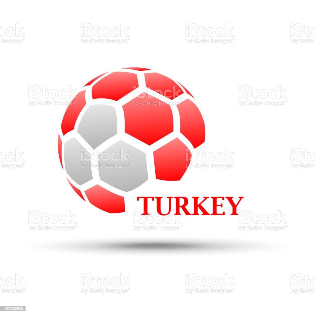 Abstrakte Fußball Mit Türkei Flagge Farben Stock Vektor Art und mehr ...