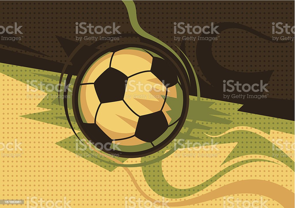 Abstract soccer poster. royalty-free stock vector art