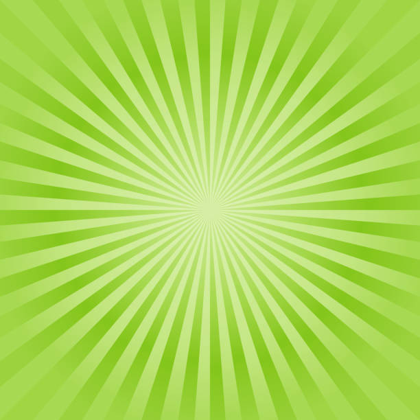 illustrazioni stock, clip art, cartoni animati e icone di tendenza di abstract soft green rays background. vector - verde