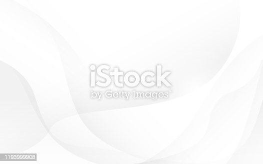 Abstract soft waves white and gray color background. Vector, illustration