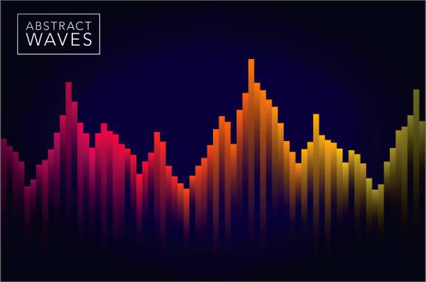 abstract sound wave background - sound wave grafiken stock-grafiken, -clipart, -cartoons und -symbole