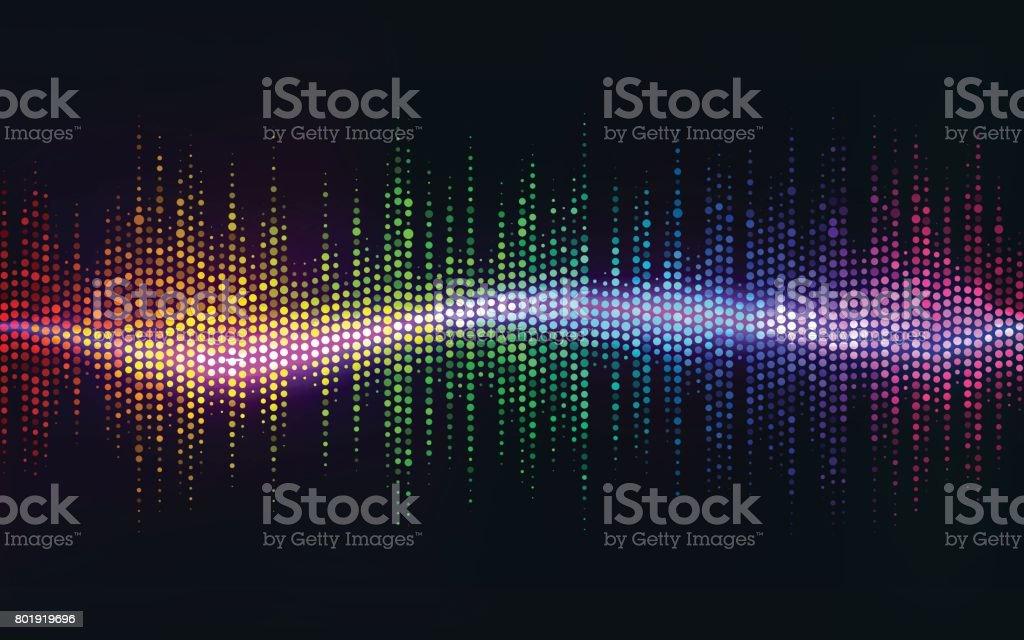 Ilustración de Resumen Backgrounddigital De La Onda De Sonido ...