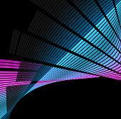 abstract sound wave technology background