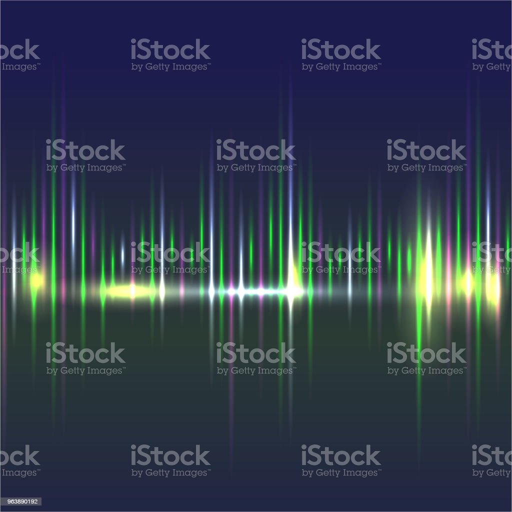 Abstract sound waves light equalizer. - Royalty-free Abstract stock vector