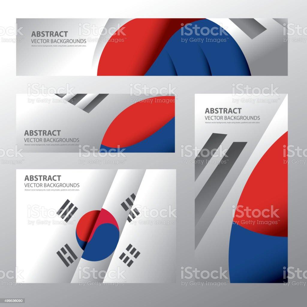 Bandeira abstrato Coreia do Sul, S.Korean cores (arte vetorizada - ilustração de arte em vetor