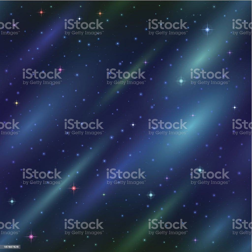 Abstract space background, seamless royalty-free stock vector art