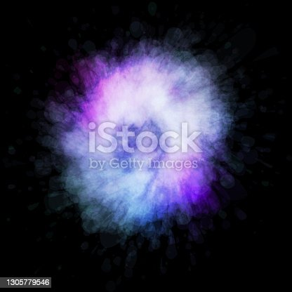 istock Abstract space background with blue, pink and white colors. 1305779546