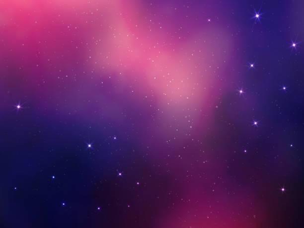 abstrakten raum vektor hintergrund mit sternen-nebel - weltall stock-grafiken, -clipart, -cartoons und -symbole