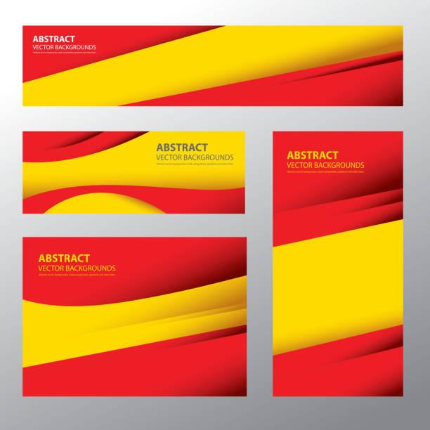 abstract spain flag, spanish colors (vector art) - spanish flag stock illustrations, clip art, cartoons, & icons