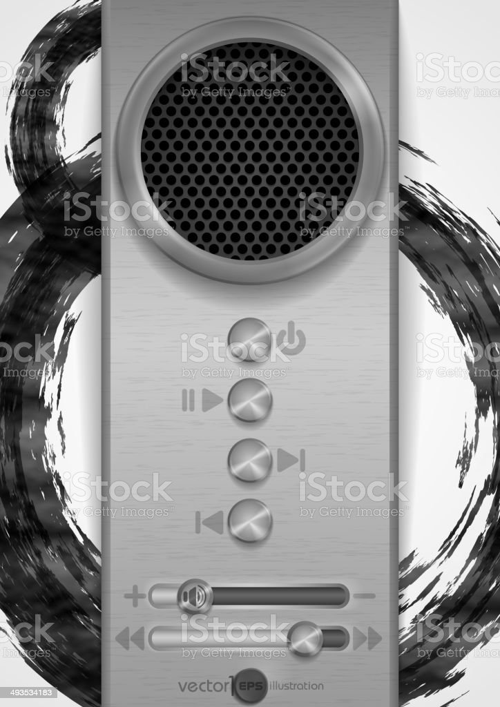 Abstract Speaker Concept Design. royalty-free stock vector art