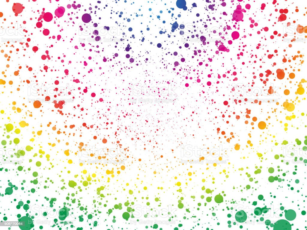 abstract spectrum color dots wallpaper vector art illustration