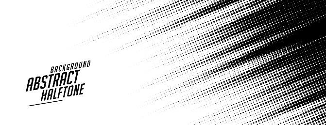 abstract speed lines style halftone banner design