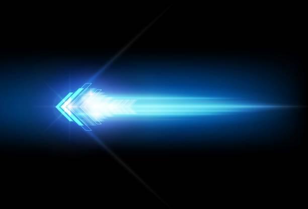 ilustraciones, imágenes clip art, dibujos animados e iconos de stock de speed abstracto flechas azules tecnología comunicarse fondo, ilustración vectorial - velocidad