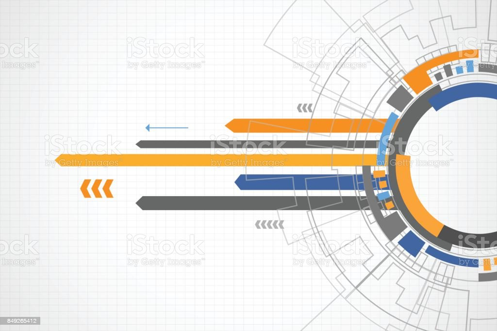 Abstract speed technology background vector art illustration