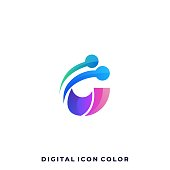 Abstract Sphere Colorful Illustration Vector Design Template. Suitable for Creative Industry, Multimedia, entertainment, Educations, Shop, and any related business.