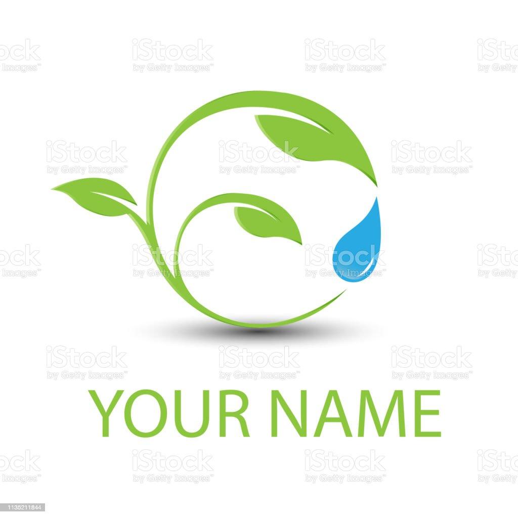 Abstract sphere green leaf logo element vector design ecology symbol....